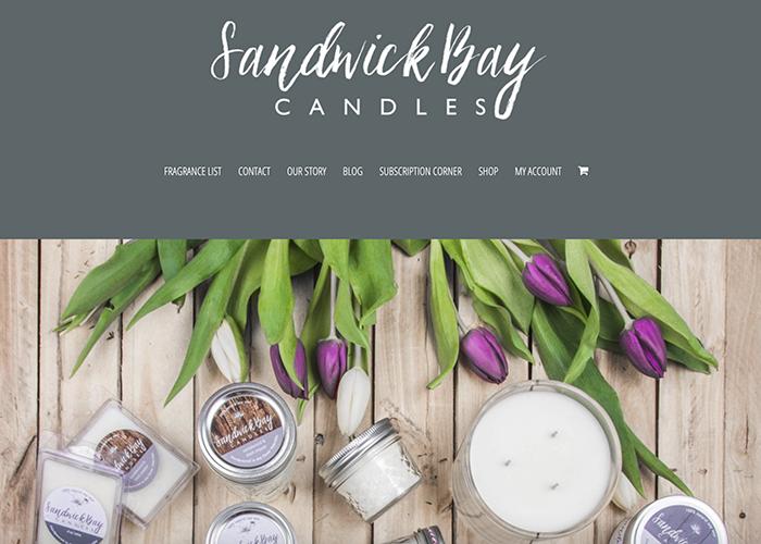 Sandwick Bay Candles website