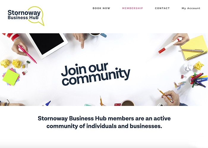 Stornoway Business Hub website