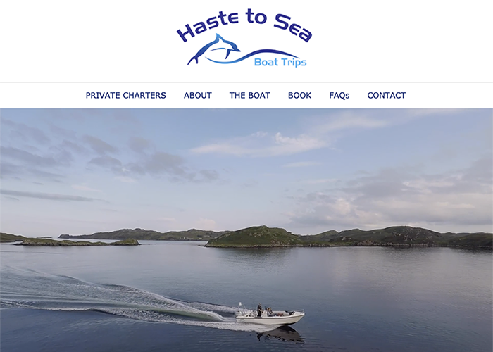 Haste to Sea website
